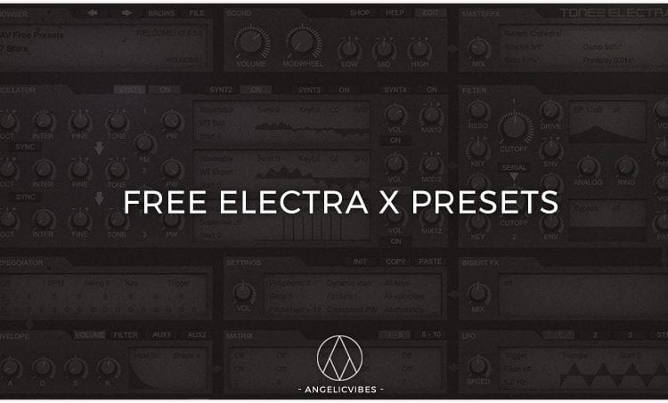Artwork For Free Electra X Presets Blog Post