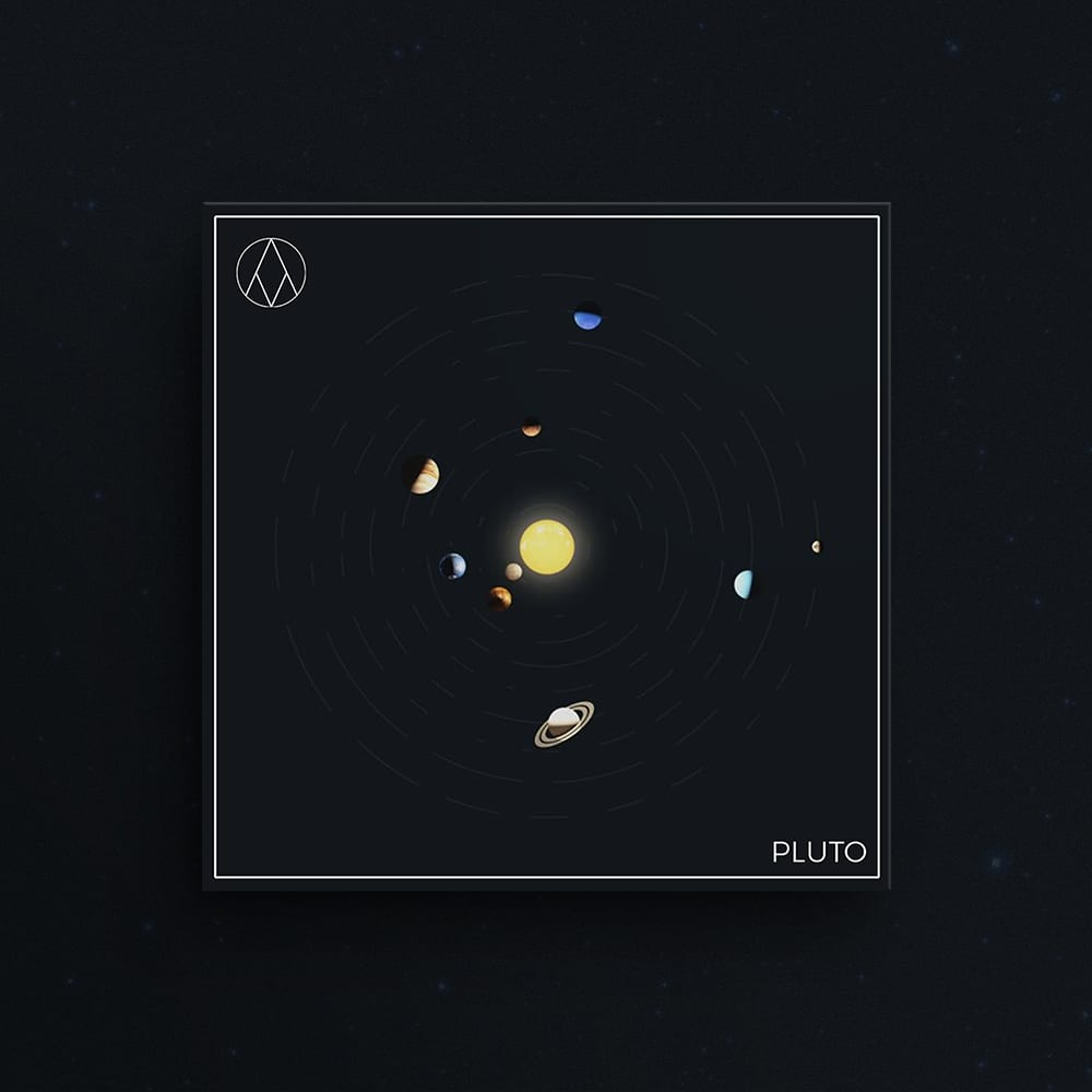 Artwork with planets for Pluto Drum Kit